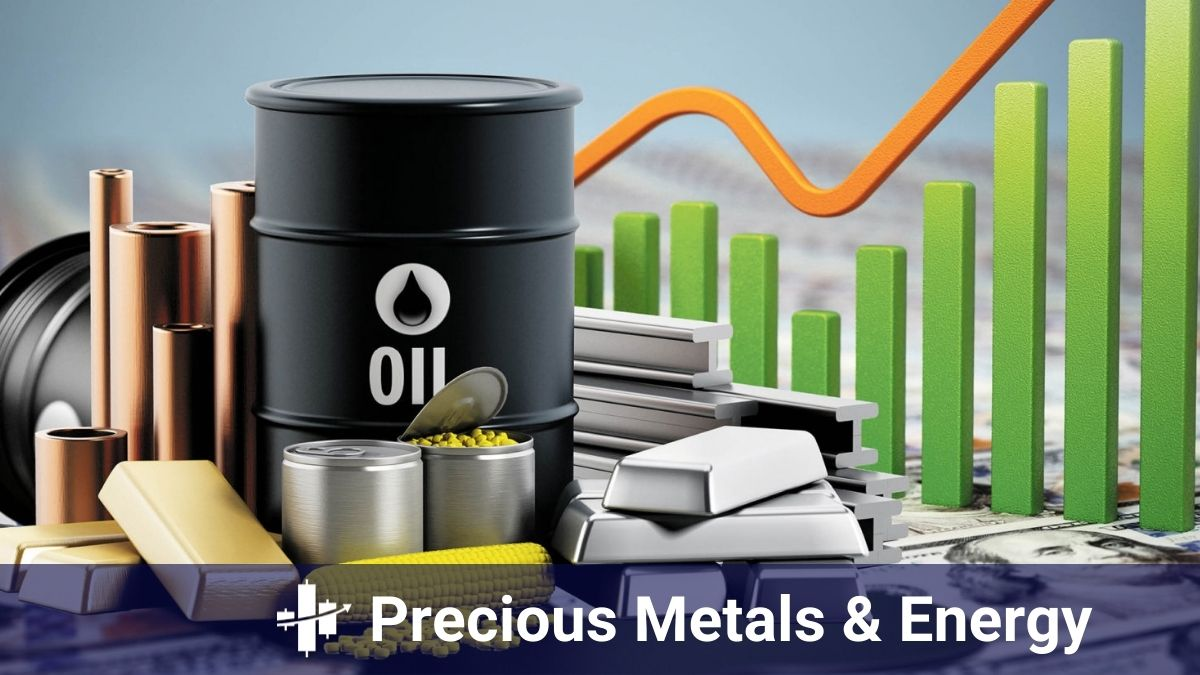 overview of the prices of precious metals and energy by Xosignals